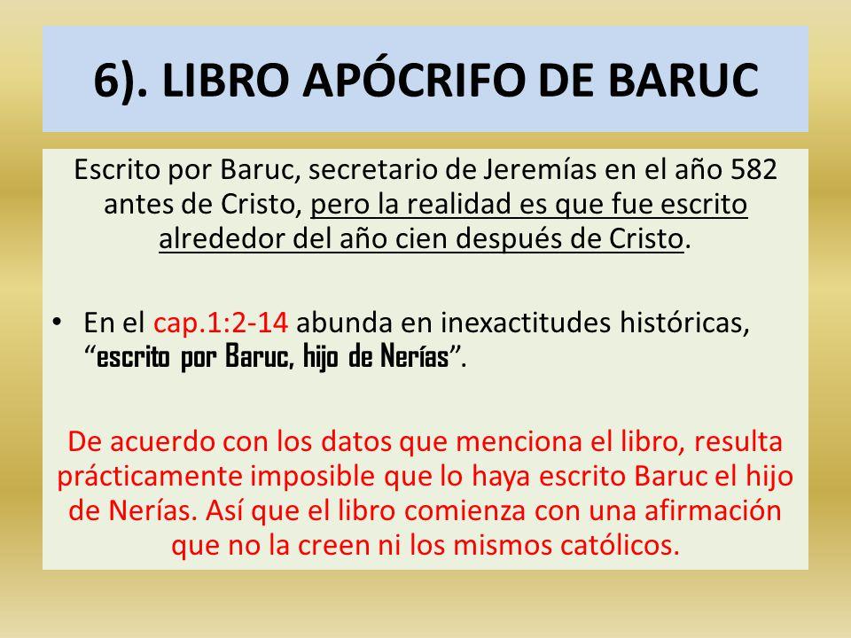 6). LIBRO APÓCRIFO DE BARUC