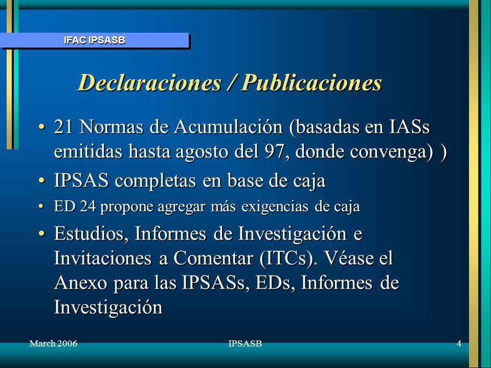 Declaraciones / Publicaciones
