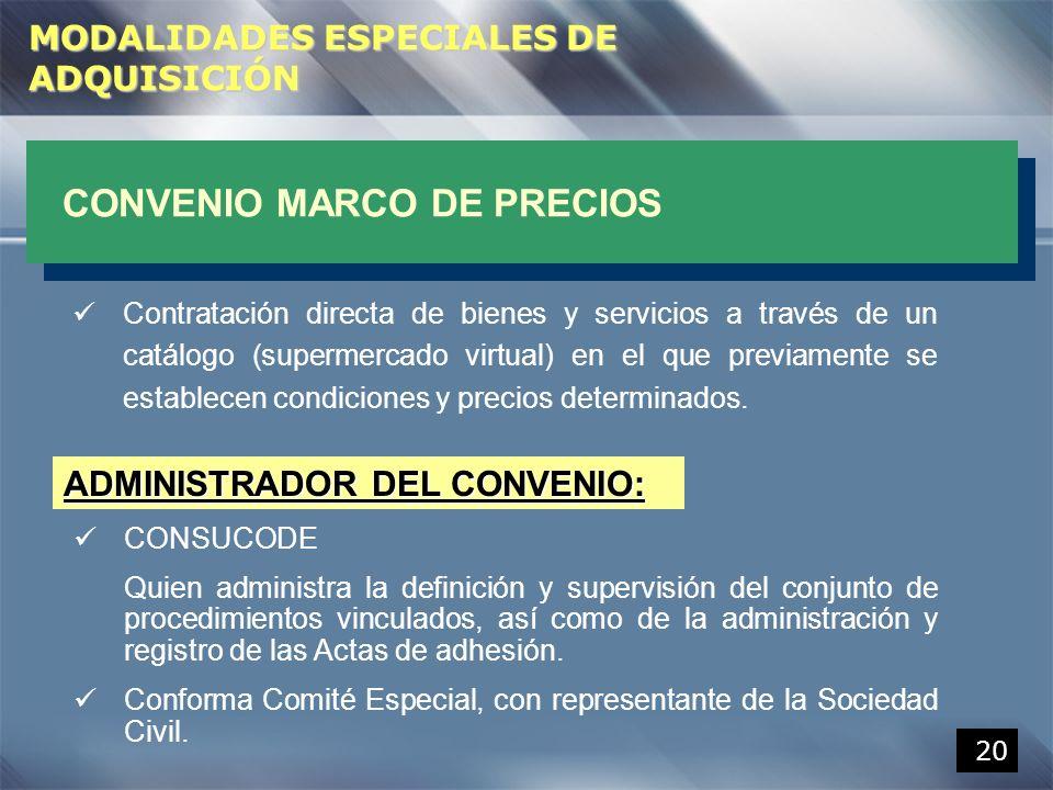 ADMINISTRADOR DEL CONVENIO: