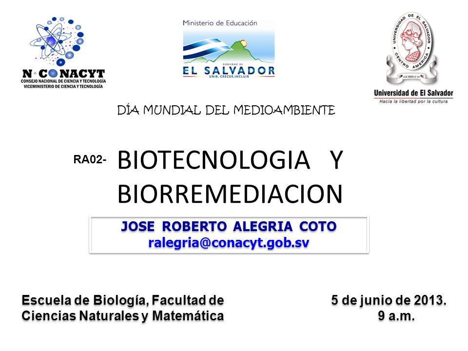 BIOTECNOLOGIA Y BIORREMEDIACION