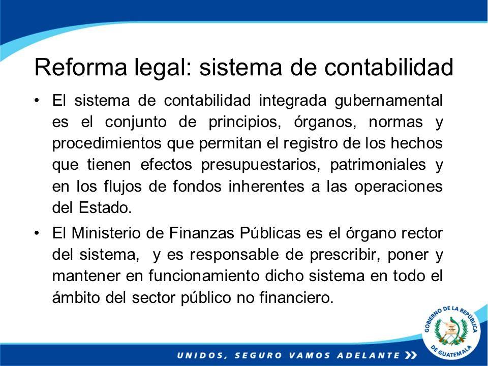 Reforma legal: sistema de contabilidad