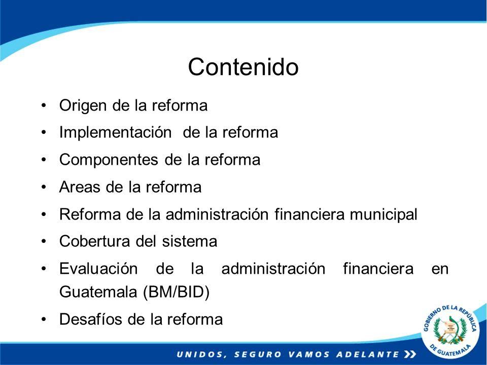 Contenido Origen de la reforma Implementación de la reforma