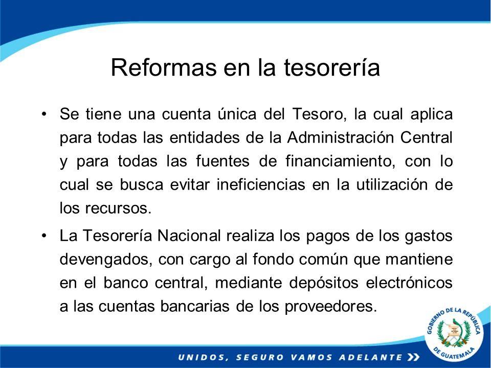 Reformas en la tesorería