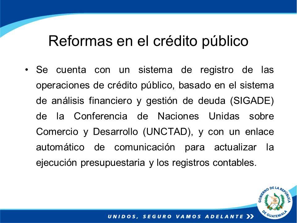 Reformas en el crédito público
