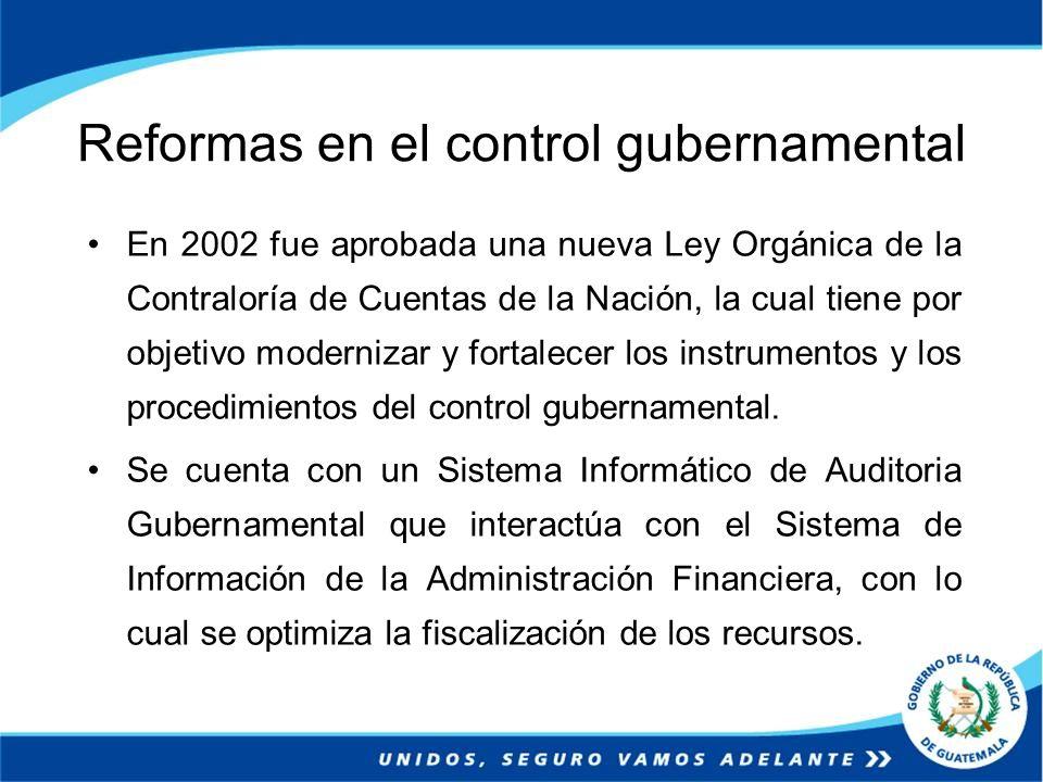 Reformas en el control gubernamental
