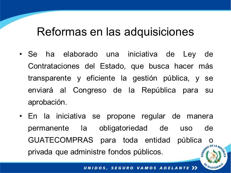 Reformas en las adquisiciones