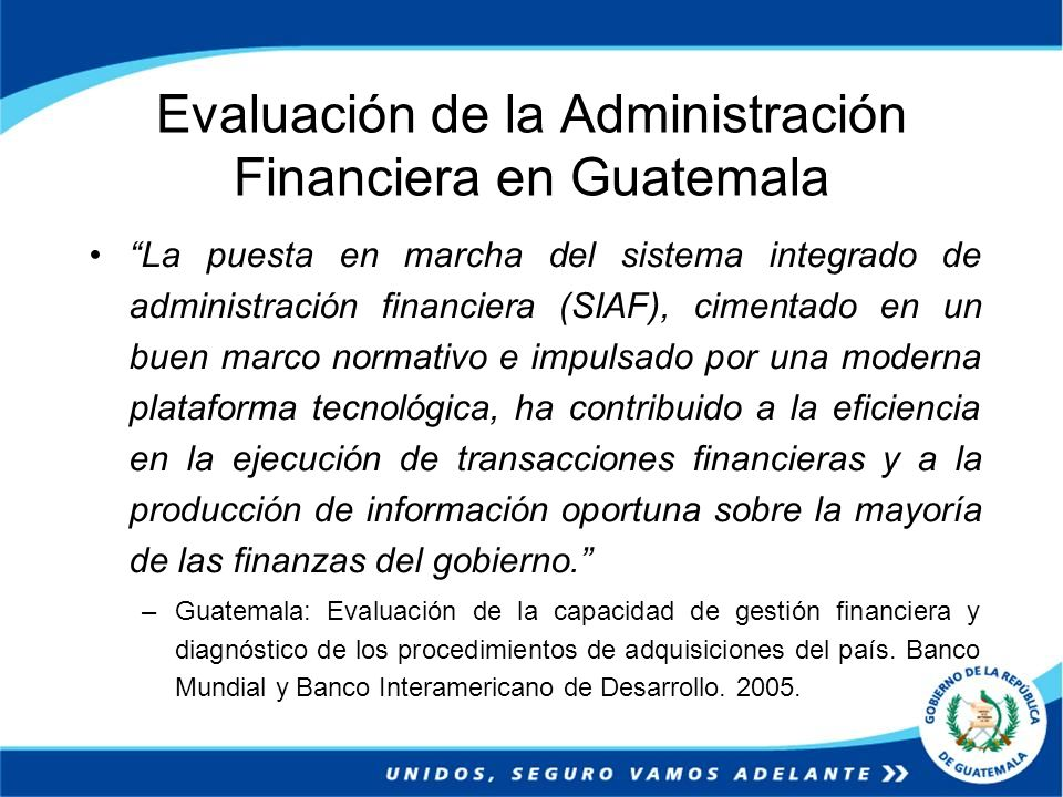 Evaluación de la Administración Financiera en Guatemala