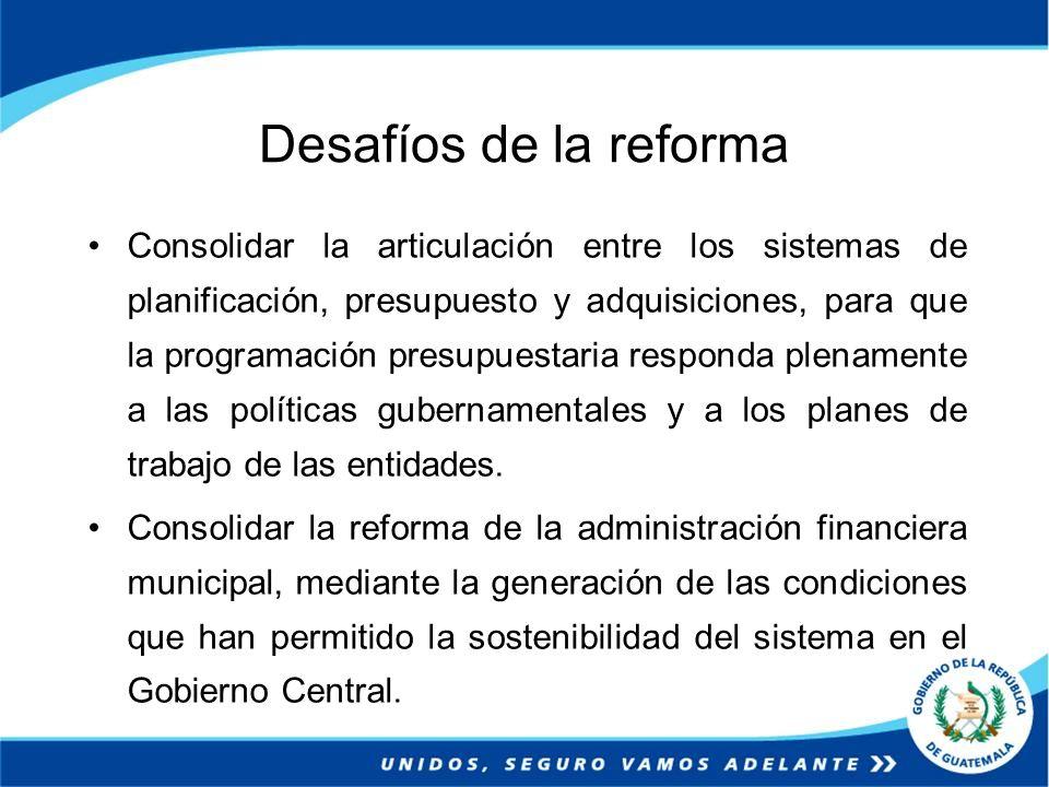 Desafíos de la reforma