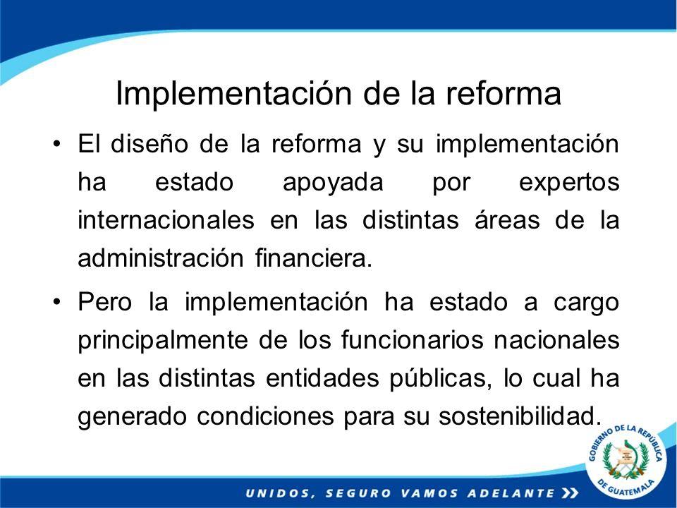 Implementación de la reforma