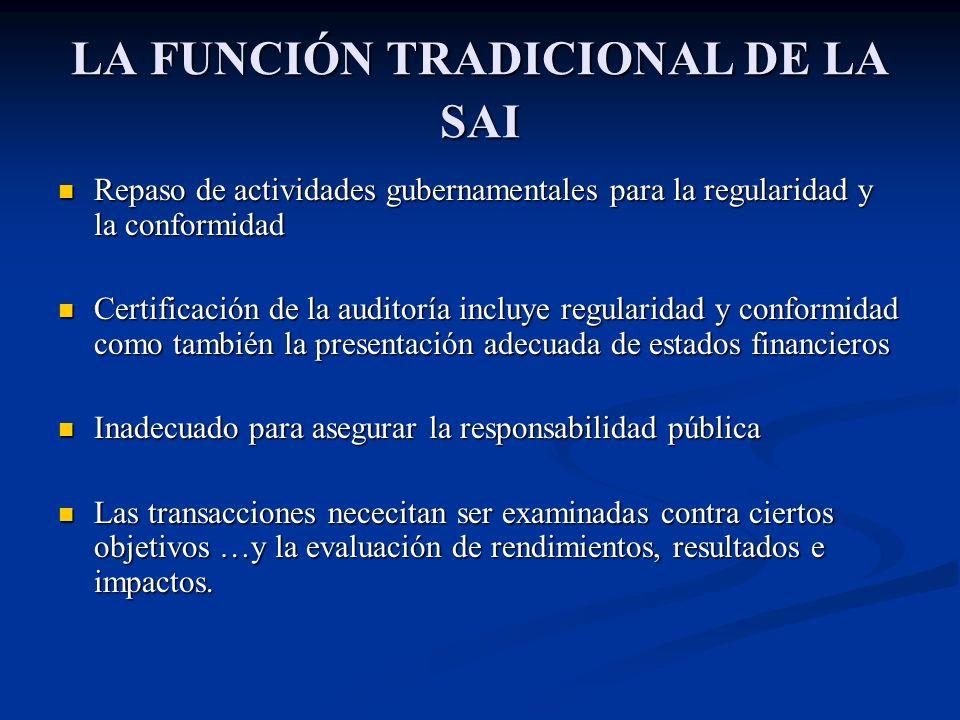 LA FUNCIÓN TRADICIONAL DE LA SAI