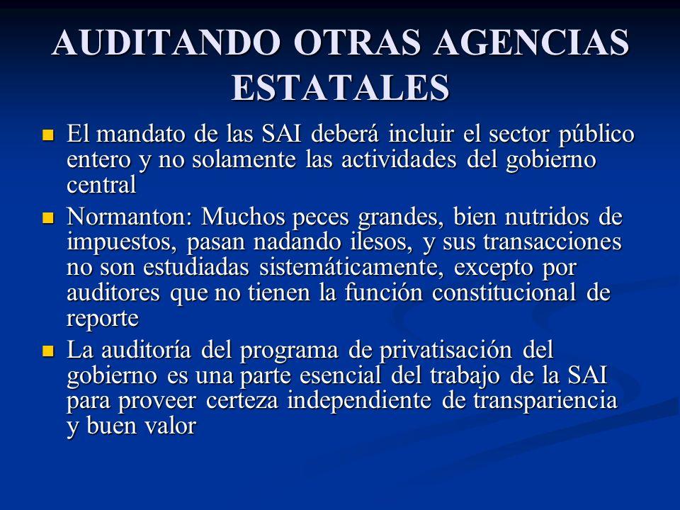 AUDITANDO OTRAS AGENCIAS ESTATALES