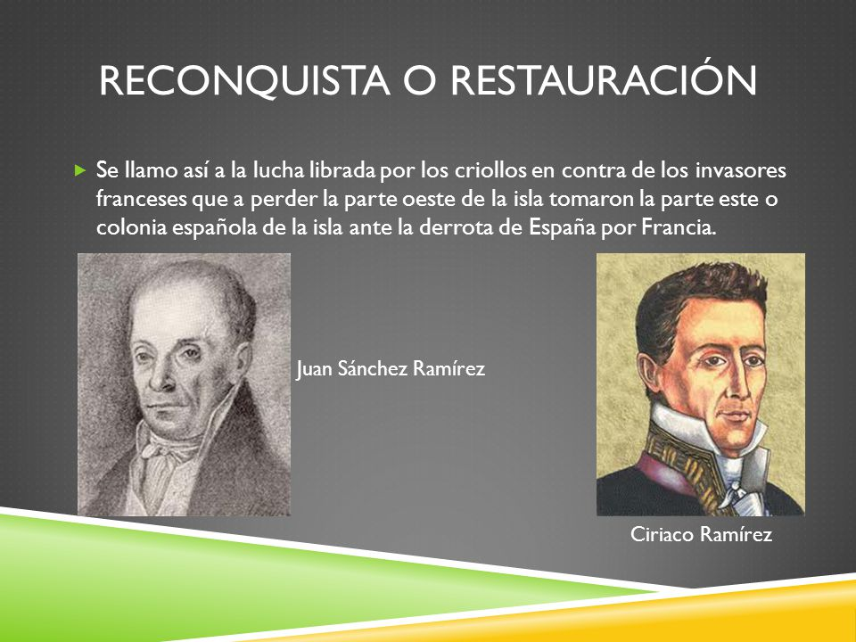 Reconquista o Restauración