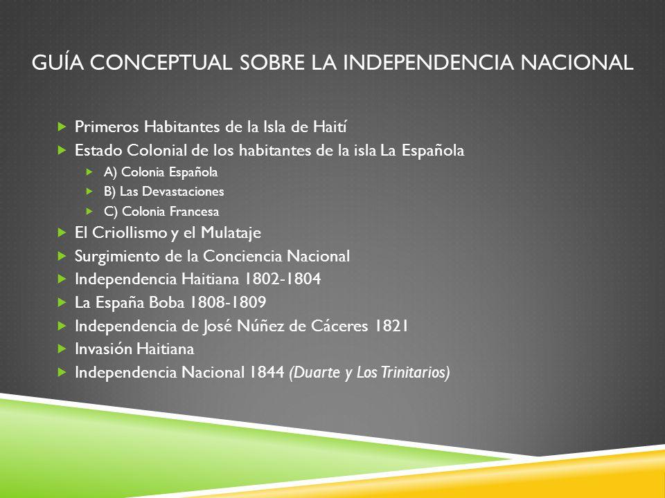Guía Conceptual Sobre La Independencia Nacional