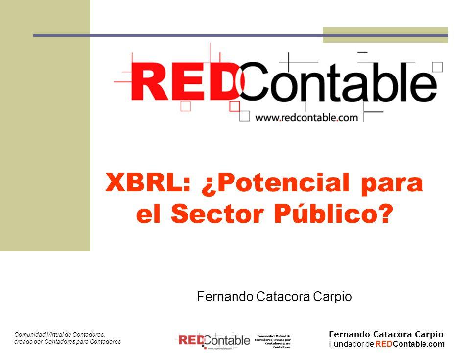 XBRL: ¿Potencial para el Sector Público