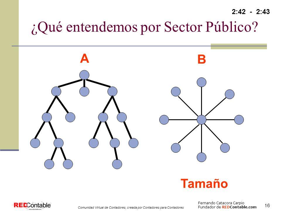 ¿Qué entendemos por Sector Público
