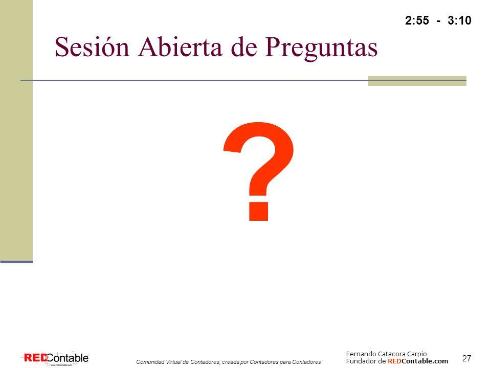 Sesión Abierta de Preguntas