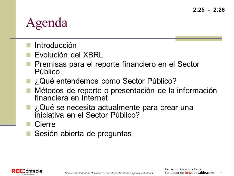 Agenda Introducción Evolución del XBRL