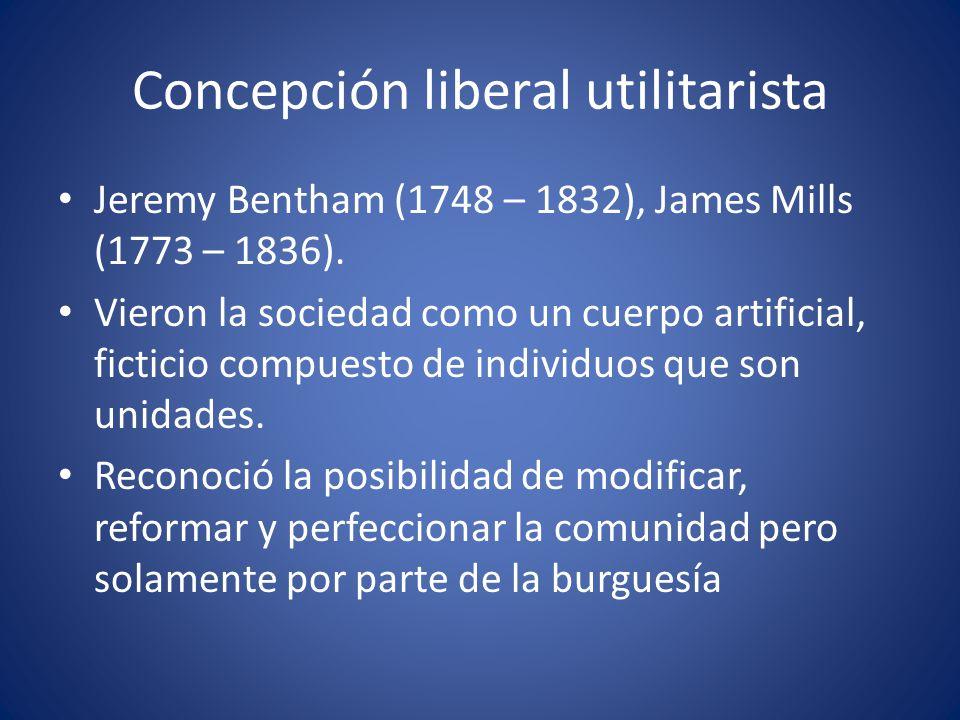 Concepción liberal utilitarista