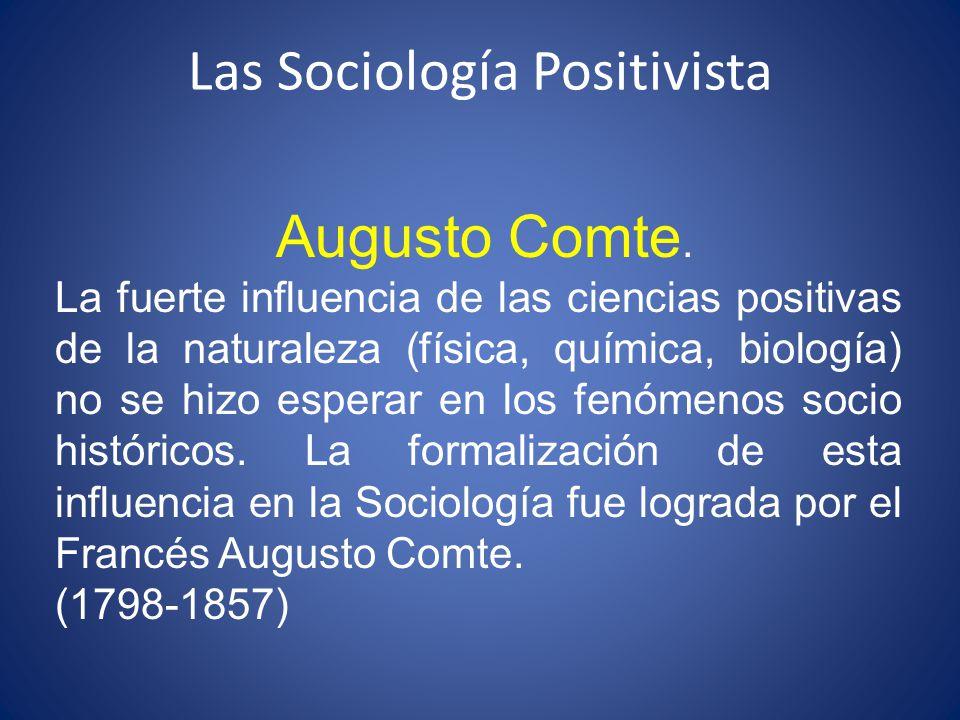 Las Sociología Positivista