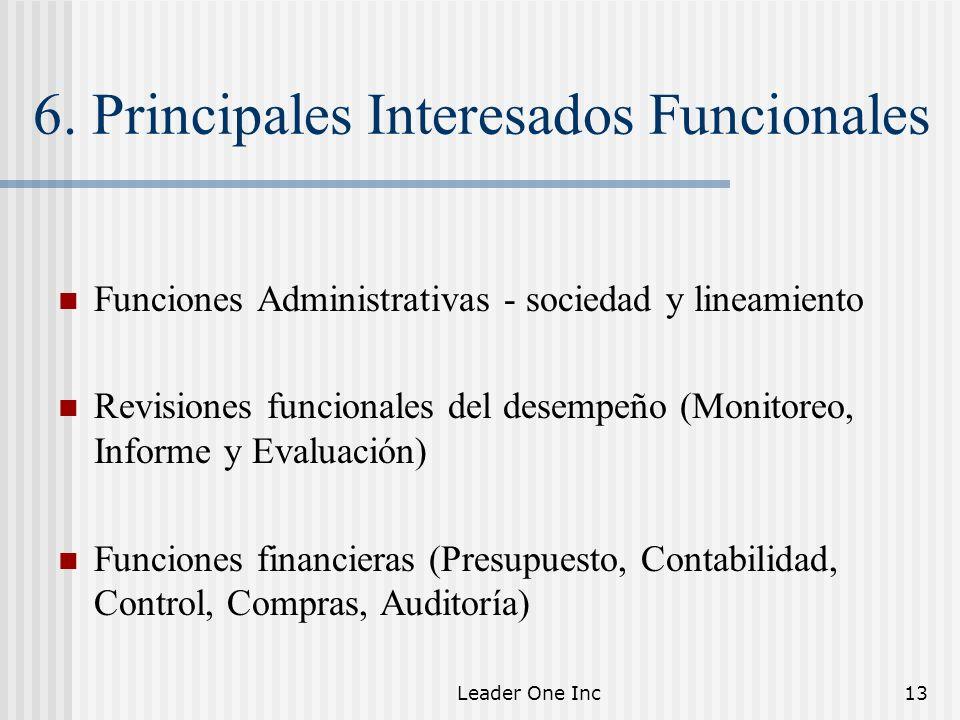 6. Principales Interesados Funcionales