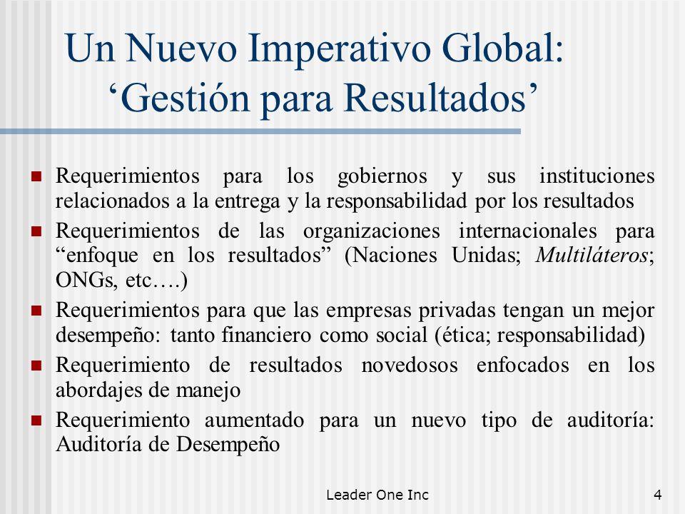 Un Nuevo Imperativo Global: 'Gestión para Resultados'