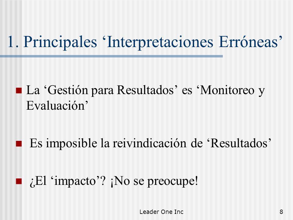 1. Principales 'Interpretaciones Erróneas'