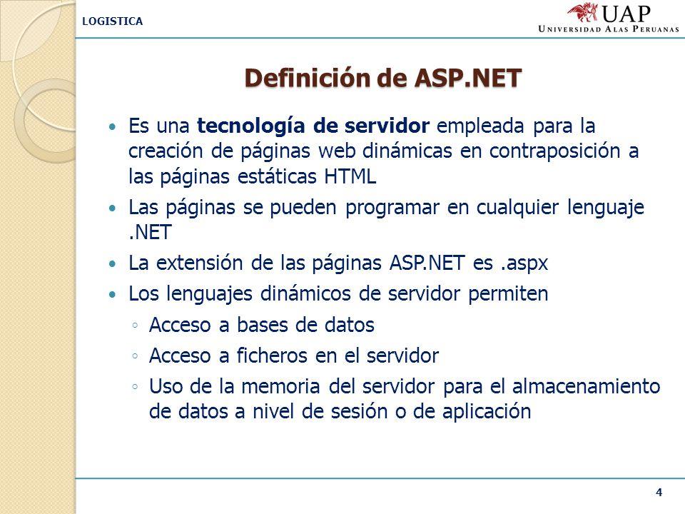 Definición de ASP.NET