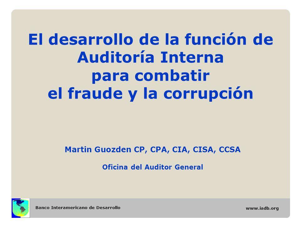 Martin Guozden CP, CPA, CIA, CISA, CCSA Oficina del Auditor General