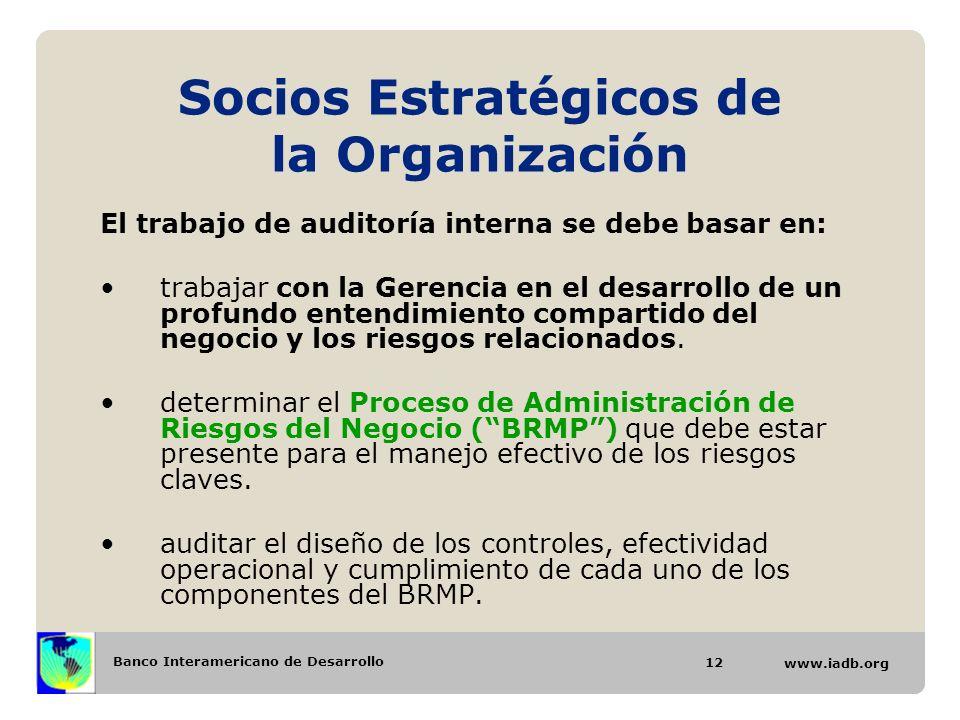 Socios Estratégicos de la Organización