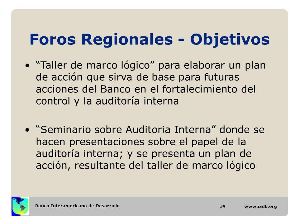 Foros Regionales - Objetivos