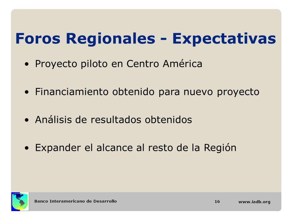 Foros Regionales - Expectativas