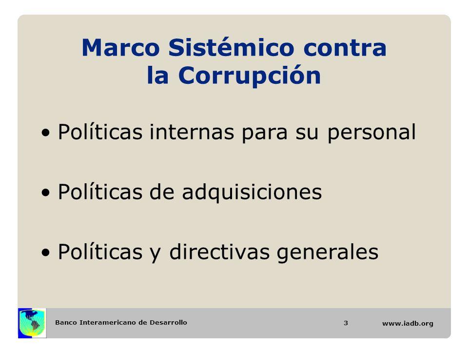 Marco Sistémico contra la Corrupción