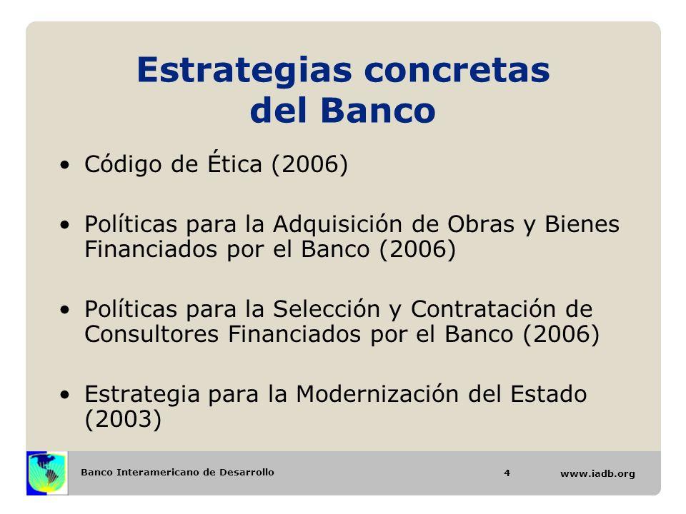 Estrategias concretas del Banco