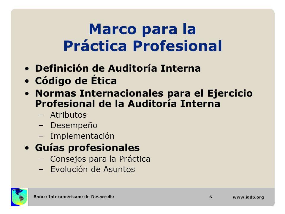Marco para la Práctica Profesional