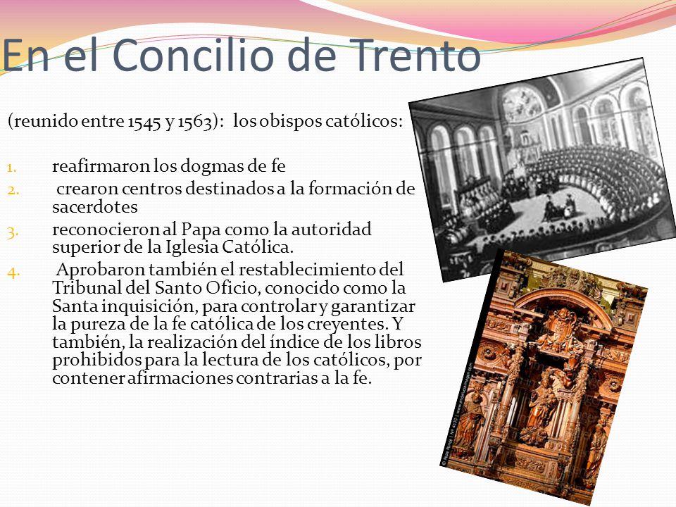 En el Concilio de Trento