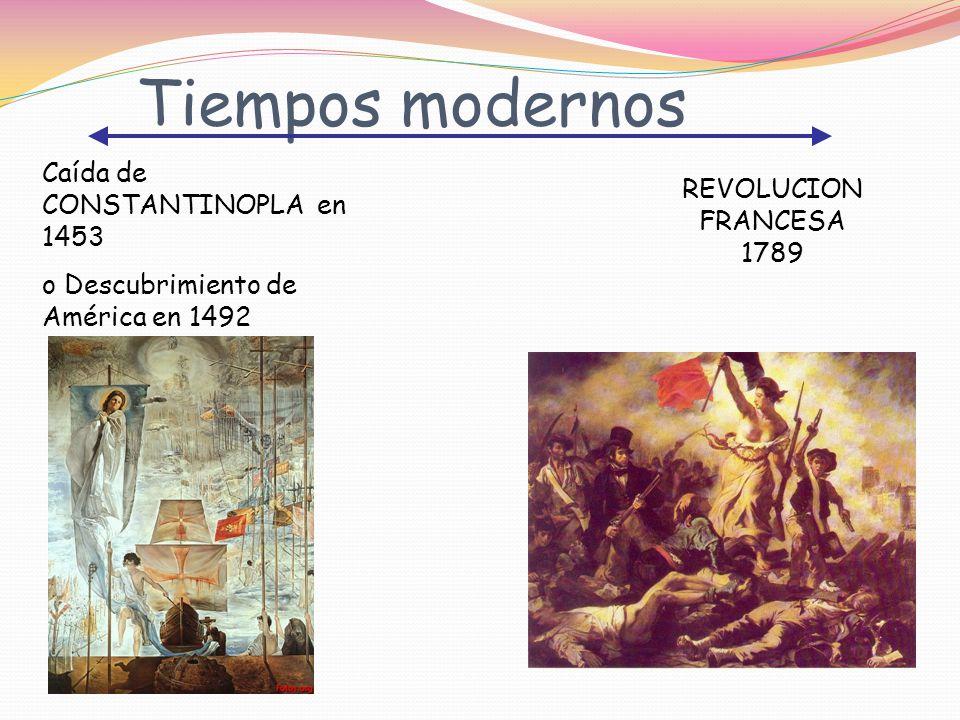 Tiempos modernos Caída de CONSTANTINOPLA en 1453