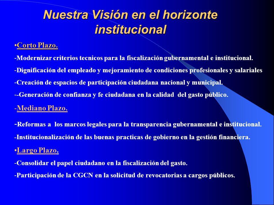 Nuestra Visión en el horizonte institucional