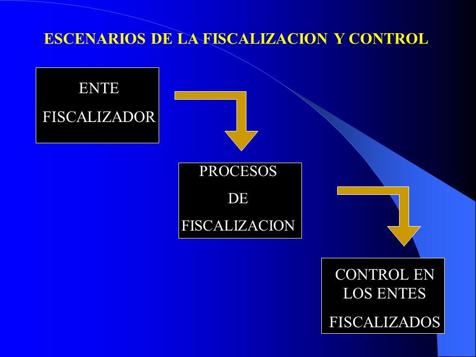 ESCENARIOS DE LA FISCALIZACION Y CONTROL