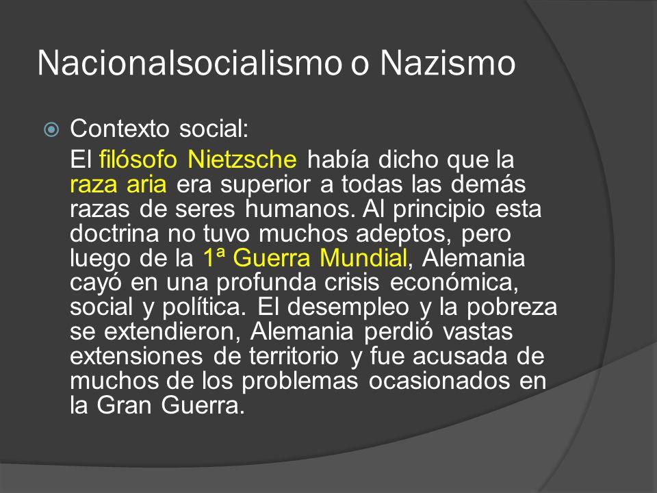 Nacionalsocialismo o Nazismo