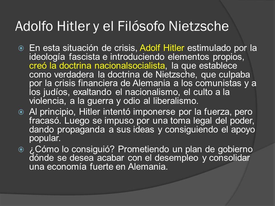 Adolfo Hitler y el Filósofo Nietzsche