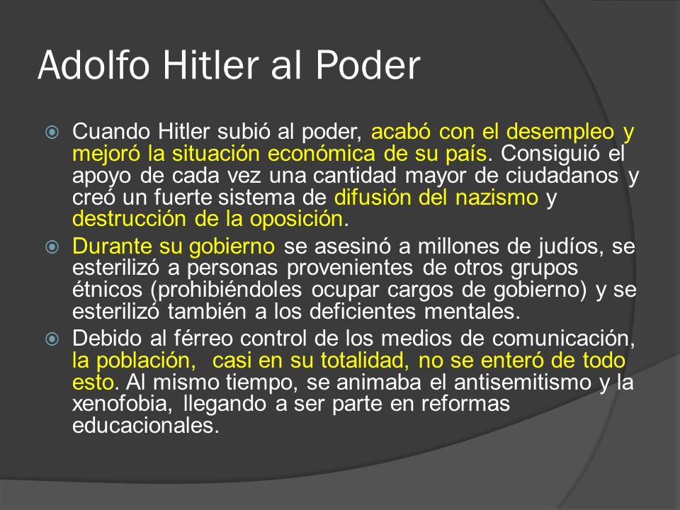 Adolfo Hitler al Poder