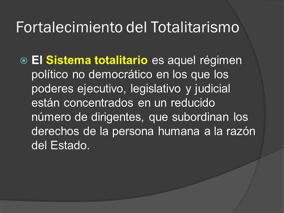 Fortalecimiento del Totalitarismo
