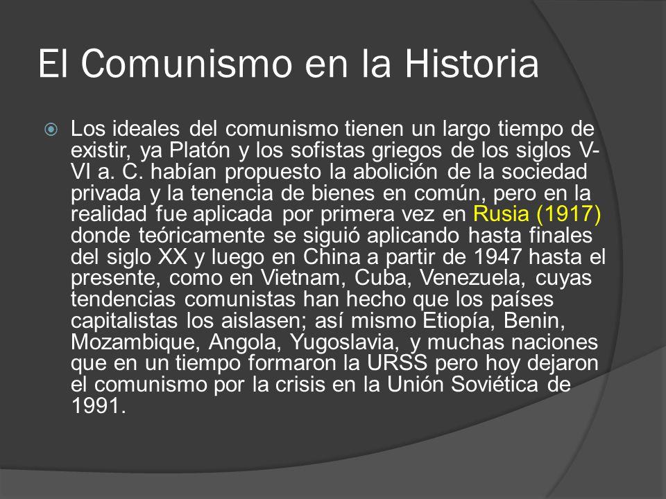 El Comunismo en la Historia