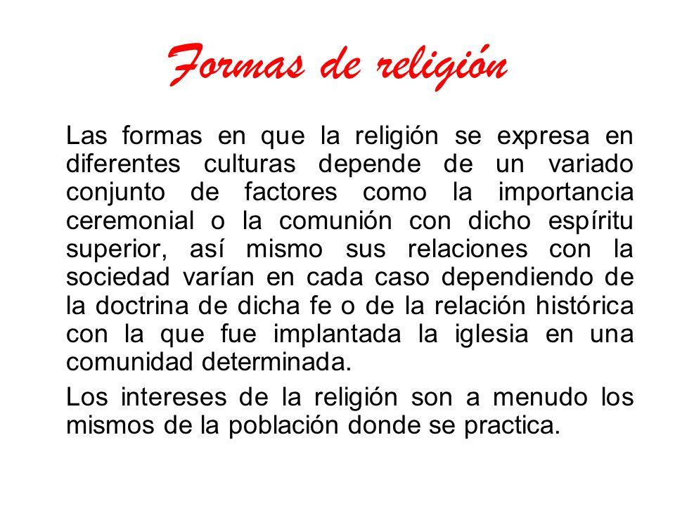 Formas de religión