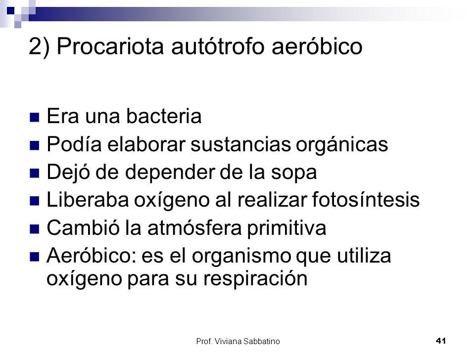 2) Procariota autótrofo aeróbico