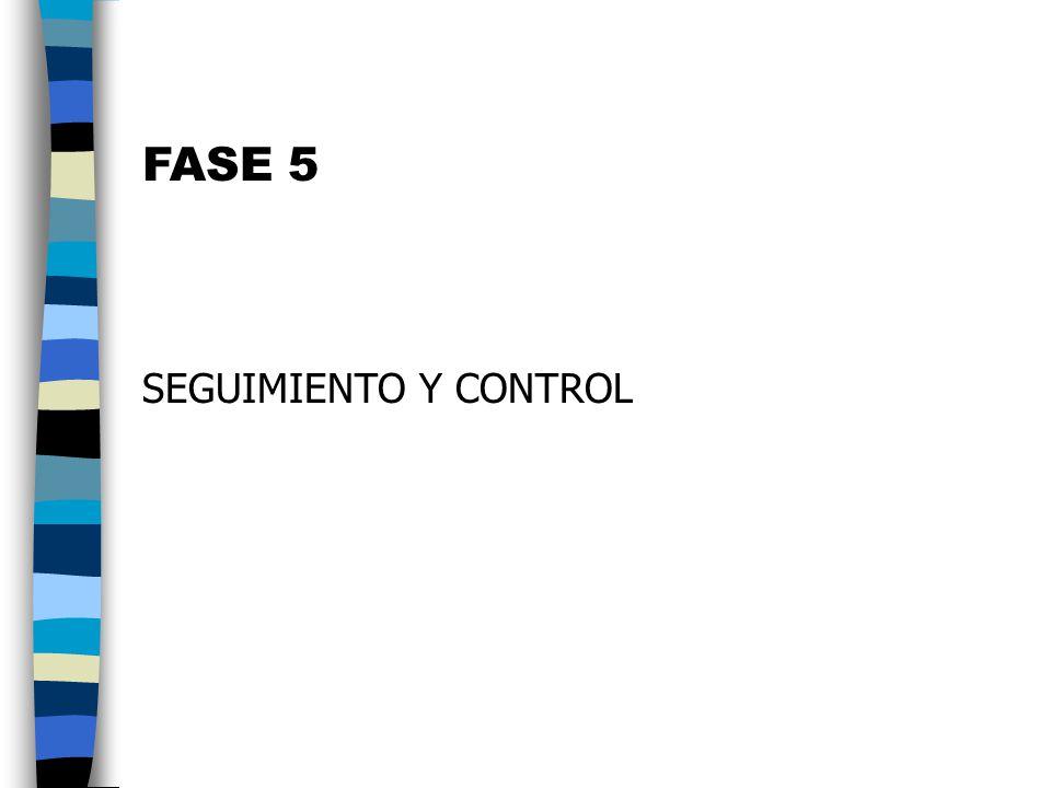FASE 5 SEGUIMIENTO Y CONTROL