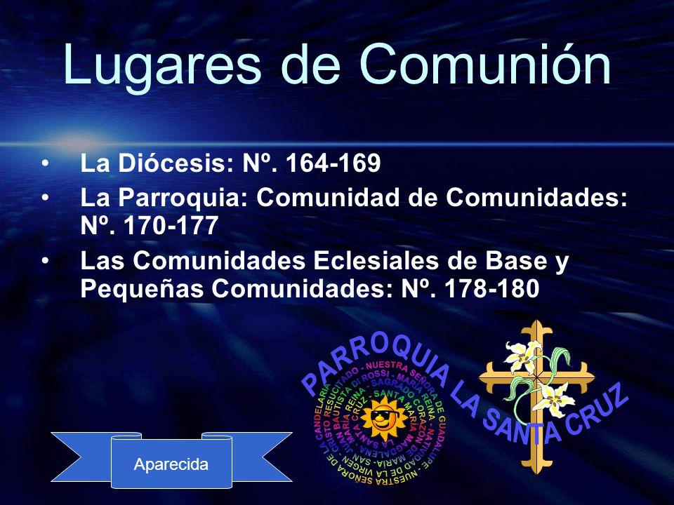 Lugares de Comunión La Diócesis: Nº. 164-169