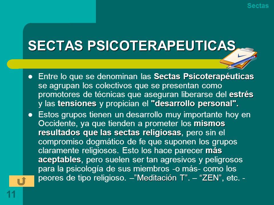 SECTAS PSICOTERAPEUTICAS