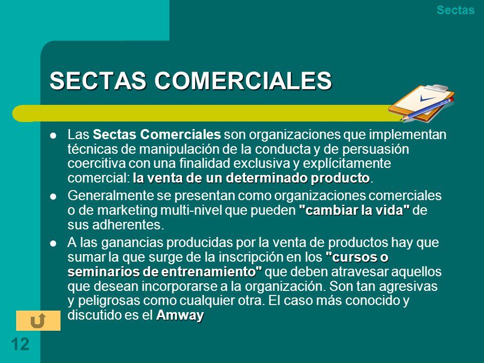 Sectas SECTAS COMERCIALES.