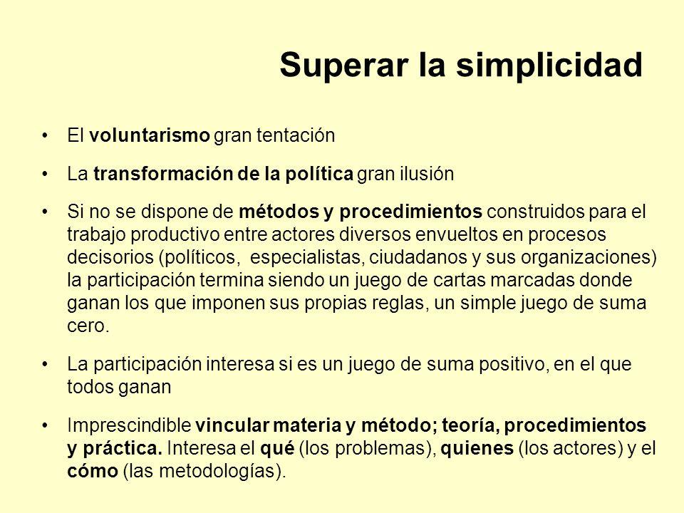 Superar la simplicidad